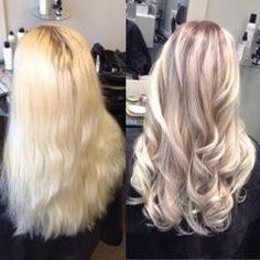 """This was a first time client with hair that had been colored and bleached for many years, about 2 cm of natural root color that was between an 8 and 7,"" says Malin Holm (@moy.hairsalon) of Moy.Hair Salon, Vaasa, Finland. ""We were aiming for a more natural look, cool blonde and not having to keep coloring the outgrowth every 6th week."" Holm shares the how to create this rooty ashy sombre:"