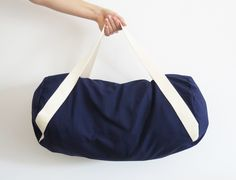 Nähpaket Sporttasche Duffle Bag - Marineblau von DIY Sewing Academy auf DaWanda.com