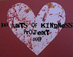 100 Acts of Kindness Project from 2011 at Toddler Approved