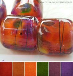 Art Bead Palette :: Orange, Peach, Copper, oh my! Colour Pallete, Colour Schemes, Color Combinations, Color Palettes, Color Balance, Design Seeds, Colour Board, Color Swatches, Bead Art
