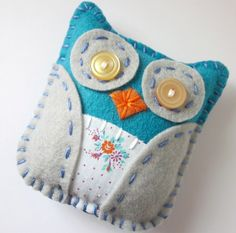 Cute little felt owl