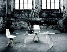 The glas italia quake table Luxury Dining Tables, Your Design, Interior Design, Studio, Chair, Furniture, Create, Home Decor, Italia