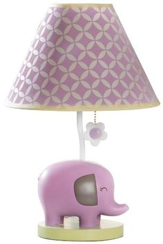 Carter's Lamp Base and Shade, Elephant Patches $49.95