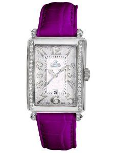 Gevril Women's 7249NE.14C White Mother-of-Pearl Genuine Alligator Strap Watch