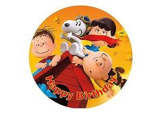 Peanuts Edible Cake Topper Personalised 20cm round Rice/wafer Choose d – Blizzard Sales