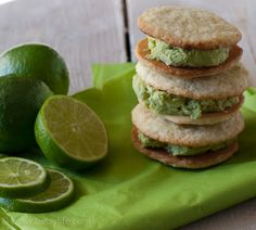 Lime Basil Ice Cream Sandwiches. These are so refreshing!