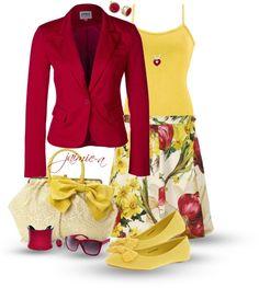 """Springtime Floral Skirt"" by jaimie-a on Polyvore"