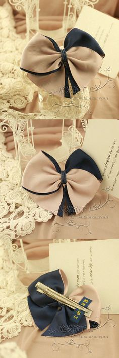 Making Hair Bows, Diy Hair Bows, Diy Bow, Diy Ribbon, Ribbon Work, Bow Hair Clips, Flower Hair Clips, Hair Ribbons, Ribbon Hair