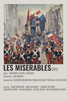 Les Miserables Poster, Les Miserables 2012, Les Mis Movie, Broadway Posters, Minimal Movie Posters, Weird World, Minimalist Poster, Old Movies, Historical Fiction