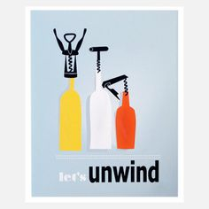 Lets Unwind Print 11x14, $16.50, now featured on Fab.