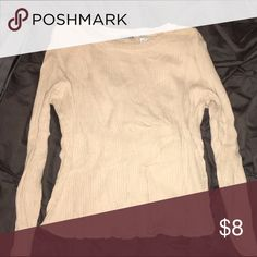 Long sleeve top Soft, long sleeve knit top. Thin material. Tan color. Energie Tops Tees - Long Sleeve
