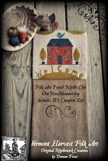 From A Little Brown House In Vermont: ~Folk Art Punch Needle Club~