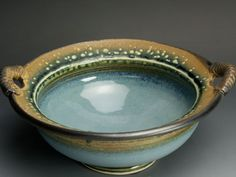 Handmade stoneware salad or serving bowl