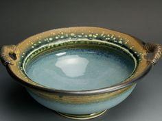 Handmade stoneware salad or serving bowl