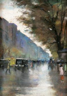 Budapester Straße in Berlin. - Ury Lesser , um 1927.