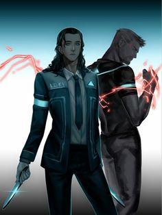 Thor & Loki    Detroit become human Crossover    Cr: Levinehuang