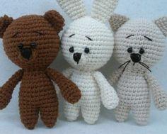 Horgolt Amigurumi Nyuszi : Crochet bunny couple with short arms free amigurumi pattern