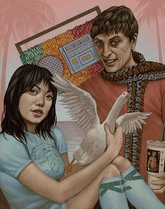 """This is the best.  """"In Summation"""" by Casey Weldon, acrylic on wood"""