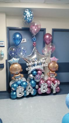 Home Decoration Ideas Modern .Home Decoration Ideas Modern Baby Balloon, Balloon Gift, Baby Shower Balloons, Balloon Garland, Birthday Balloons, Balloon Decorations, Baby Shower Deco, Baby Shower Parties, Balloon Stands