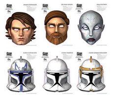 Star Wars Clone Wars masks http://superpunch.blogspot.se/2008/10/download-some-star-wars-clone-wars.html
