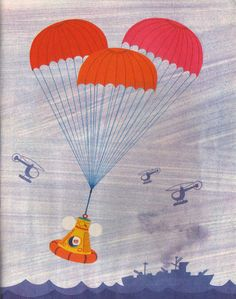 Happy Landings    Un Fusee   Ma Raconte    Text and Illustration by Alain Gree (1971)  Les Album Rose