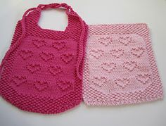Another heart knitting pattern.....i wish i knew how to so this