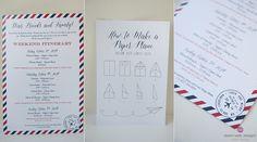 Custom Wedding Logo and Wedding Itinerary for a Travel Inspired Nantucket Wedding | Dawn Kelly Designs www.dawnkellydesigns.com #nantucket #dkd
