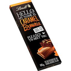 Barra de Chocolate Hello Caramel and Brownie Lindt 100g