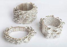 Paula Isola Bracelet- The lover I, II and III, 2017.   - #bracelet #jewelry #jewelrydesign #design #designer #craft #object #art #artist #concept #abstract #studio #handmade #contemporaryjewelry #shop #shopping #fashion #style #wearableart #decor #maker #creative  #jewellery  #wardrobe #accessories