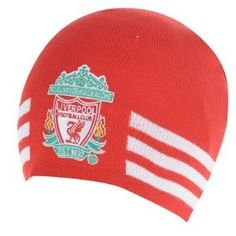 Liverpool FC - Authentic Adidas Knitted Hat Red 3 Stripe by adidas. $38.50. We buy our Liverpool soccer hats direct from the club's representatives in the UK. All Liverpool Adidas hats come in official Liverpool FC protective packaging with hologram and/or bar codes.