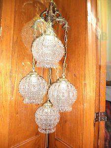 Vintage Swag Lamp
