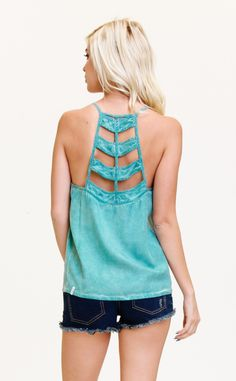 The RVCA Night Flight Tank has a strappy back detail