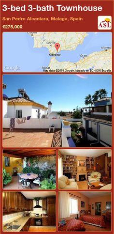3-bed 3-bath Townhouse in San Pedro Alcantara, Malaga, Spain ►€275,000 #PropertyForSaleInSpain
