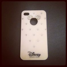 iPhone 4 and iPhone 4S White Disney Mickey Mouse Rhinestone Bling case. $20.00, via Etsy.