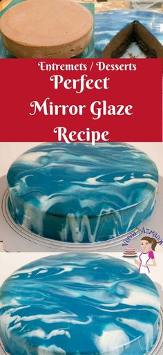 HOW TO MAKE A MIRROR GLAZE CAKE Mirror glaze aka shiny cakes are the latest trend in the cake world. These pretty mirror cakes are so impressive and yet so easy to master. The Recipe is simple and easy – what difficult is waiting to enjoy your treats Mirror Glaze Icing, Chocolate Mirror Glaze, Easy Mirror Glaze Recipe, Mirror Icing Recipe, Easy Cake Recipes, Frosting Recipes, Frosting Tips, Glazed Icing Recipe, Glaze For Cake
