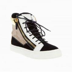 1a90db1c030e8 Giuseppe Zanotti High Top Sneakers Black White Giuseppe Zanotti Sneakers, Giuseppe  Zanotti Design, Wedge