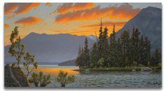 Sunset on Emerald Island