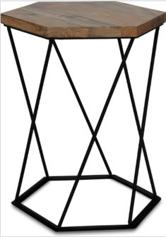 This industrial styled, light mango wood side table with metal frame will be a great addiction in any room in any contemporary or traditional home.