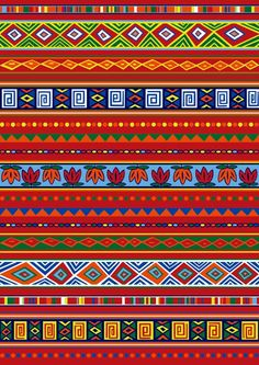 Illustration about Vector set including ethnic African pattern with multicolored typical elements. Illustration of blue, abstract, triangle - 8047631