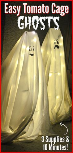 Halloween Ghosts made from Tomato Cages?! Yes, Really. – Hip2Save