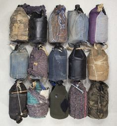 Water Bottles - Water is the main source of hydration when crossing the desert. In the Tucson sector of the U.S./Mexico border, heavy-duty non-biodegradable black plastic bottles are commonly used as canteens and are occasionally covered or insulated with remnants of clothing or blanket.