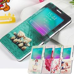 2015 Smart View Flip PU Case For samsung galaxy A7 Leather Phone Case Cover For samsung galaxy A7 back Cover Case A7