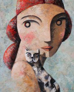"""Didier Lourenço (Barcelone, 1968 - ) """"Come"""" ?, Huile sur toile, H. 81 cm ; L. 65 cm. ?"""