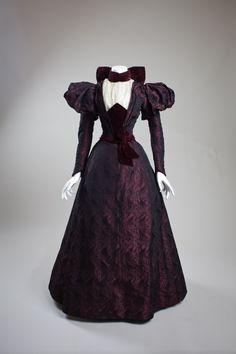 Ephemeral Elegance   Velvet Trimmed Afternoon Dress, ca. 1890s via San...