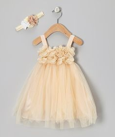 Take a look at this Peach Princess Petal Dress - Toddler & Girls by Bebe Culture on #zulily today!
