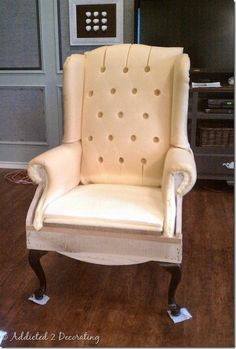 Removing Some Of The Mystery From Upholstery And Button Tufting. Tufted  ChairWingback ...