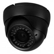IR Zoom Dome kamera, 700 TVL, Sort