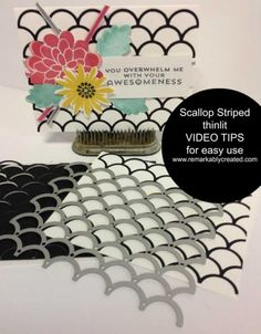 How to use the Stampin' Up! Striped Scallop Thinlit