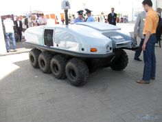 """The multipurpose floating robot-cross-country vehicle """"Scarab""""."""