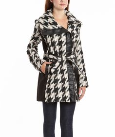 Black & White Houndstooth Peacoat by KC Collections is perfect!
